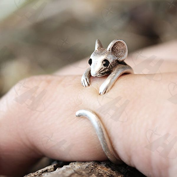 Jewelry OFF! Cheap gift bow ring Buy Quality ring cat directly from China gift itunes Suppliers: Mouse Rings Womens Girls Retro Burnished Rat Animal Rings Vintage Jewelry Adjustable Free Size Ring Black Crystal Gif