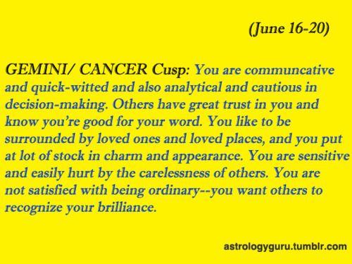 Gemini cancer cusp man compatibility