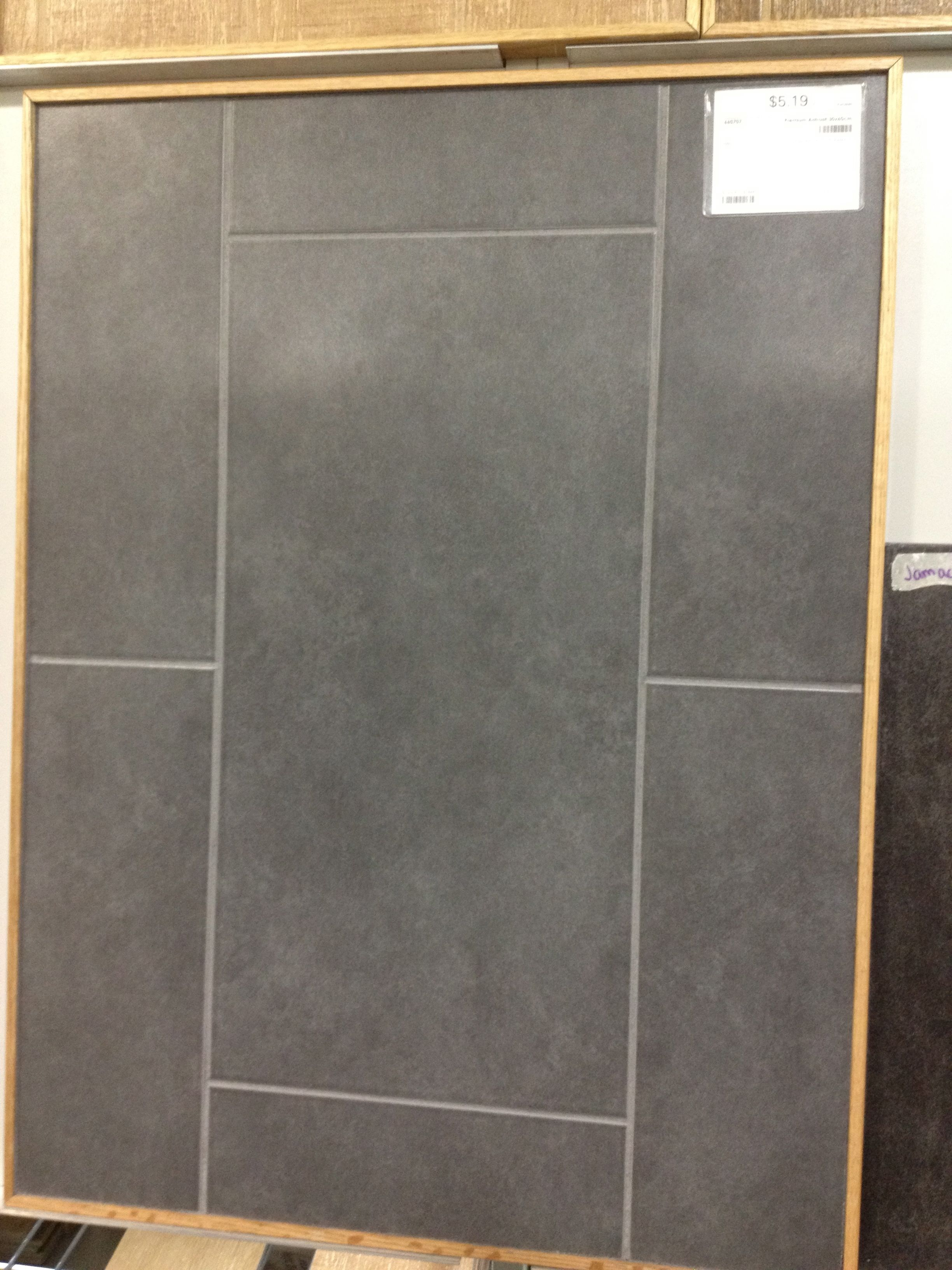 Premium Antrasit Floor Tile With Gray Grout Bathroom Pinterest Grey Grout Grout And Laundry