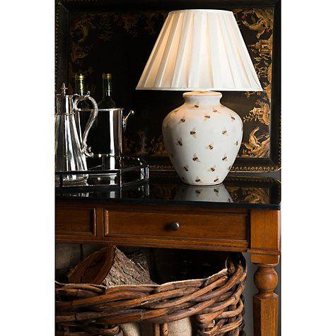 India Jane Bee Pot Ceramic Lamp Base, Table Lamps India Jane