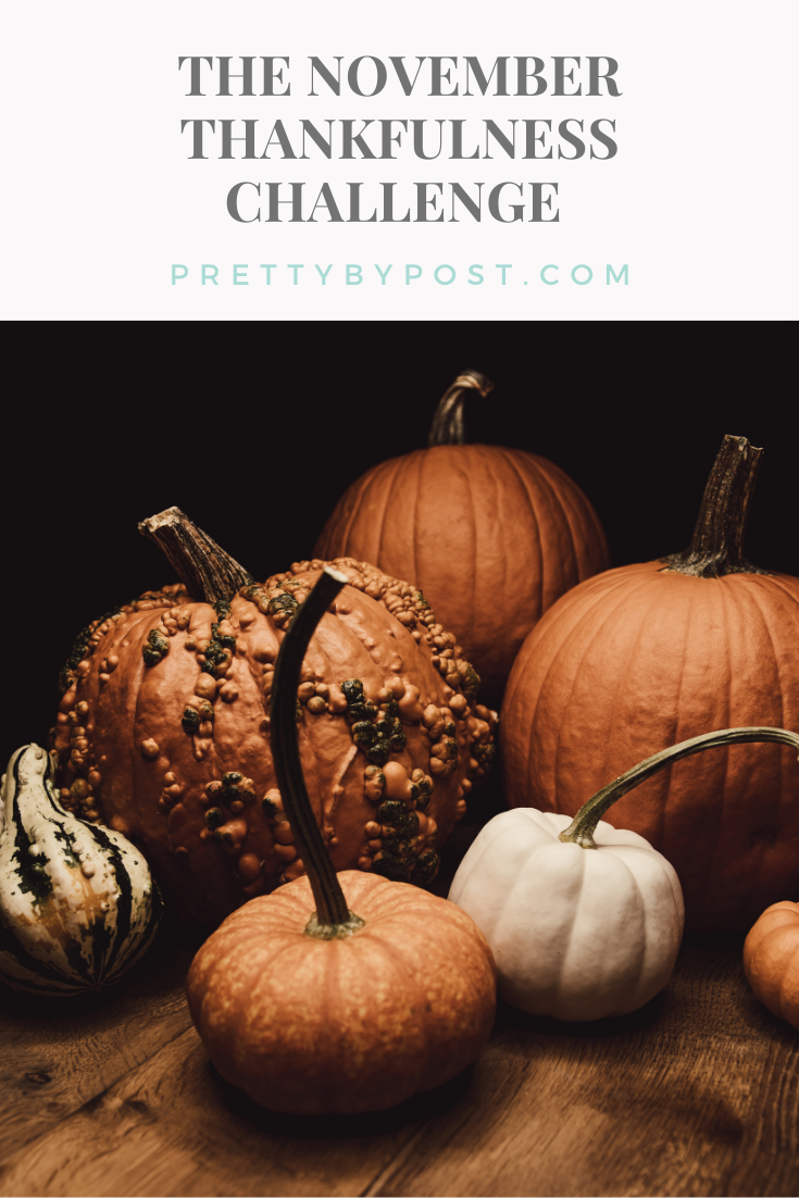The November Thankfulness Challenge Pretty By Post In 2020 Pumpkin Thankful Challenges
