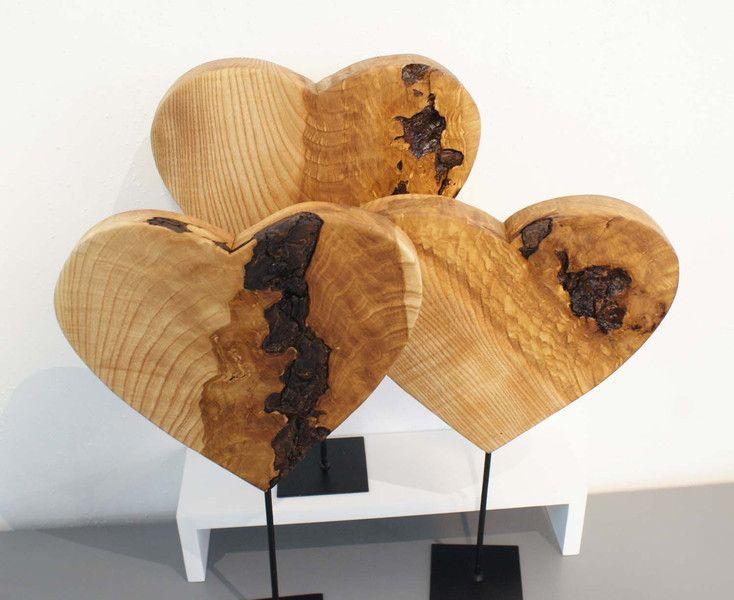 Deko-Objekte - Objekt ♥♥♥ Herz aus Holz ♥♥♥ - ein ...