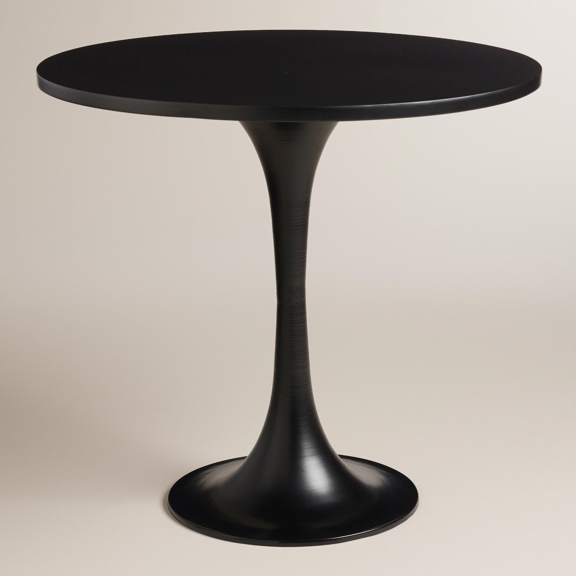 Round Metal Glynn Accent Table