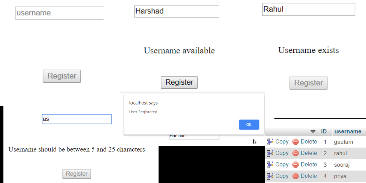 How to Check UserName Availabil… in 2019 Web development