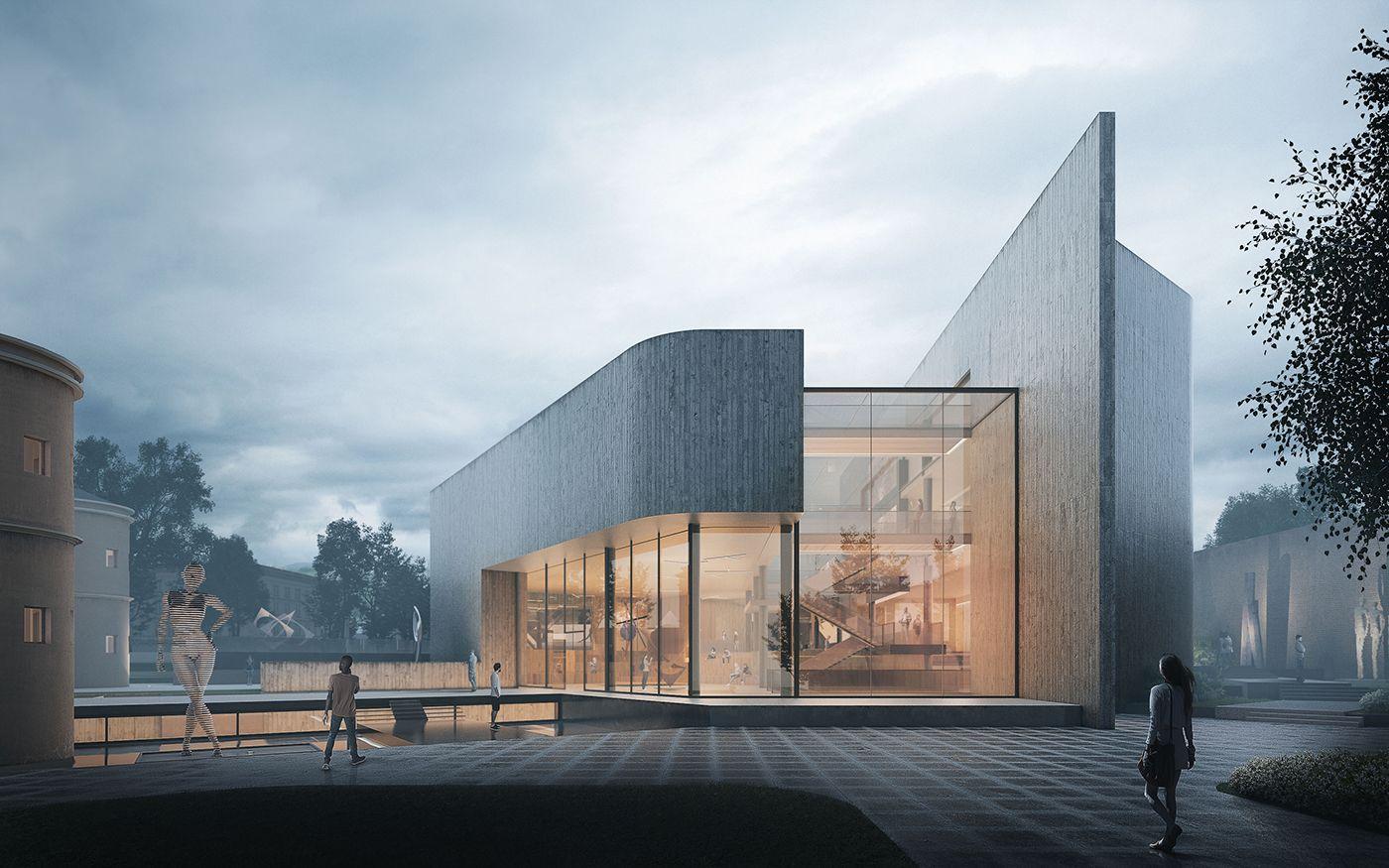 Modern Art Museum On Behance Art Museum Architecture Art Galleries Architecture Architecture