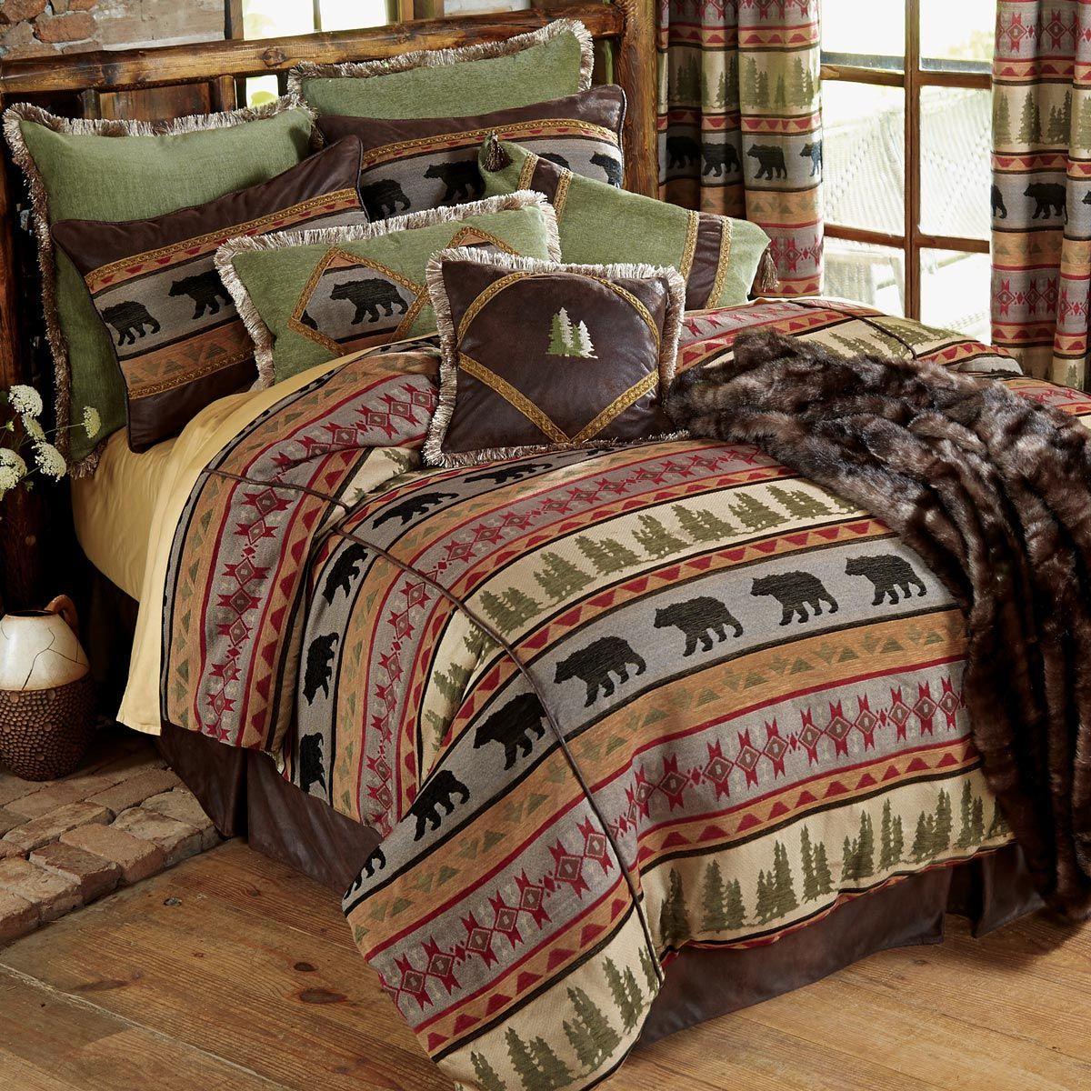 Montana Bear Bed Set King Cabin bedding sets, Cabin