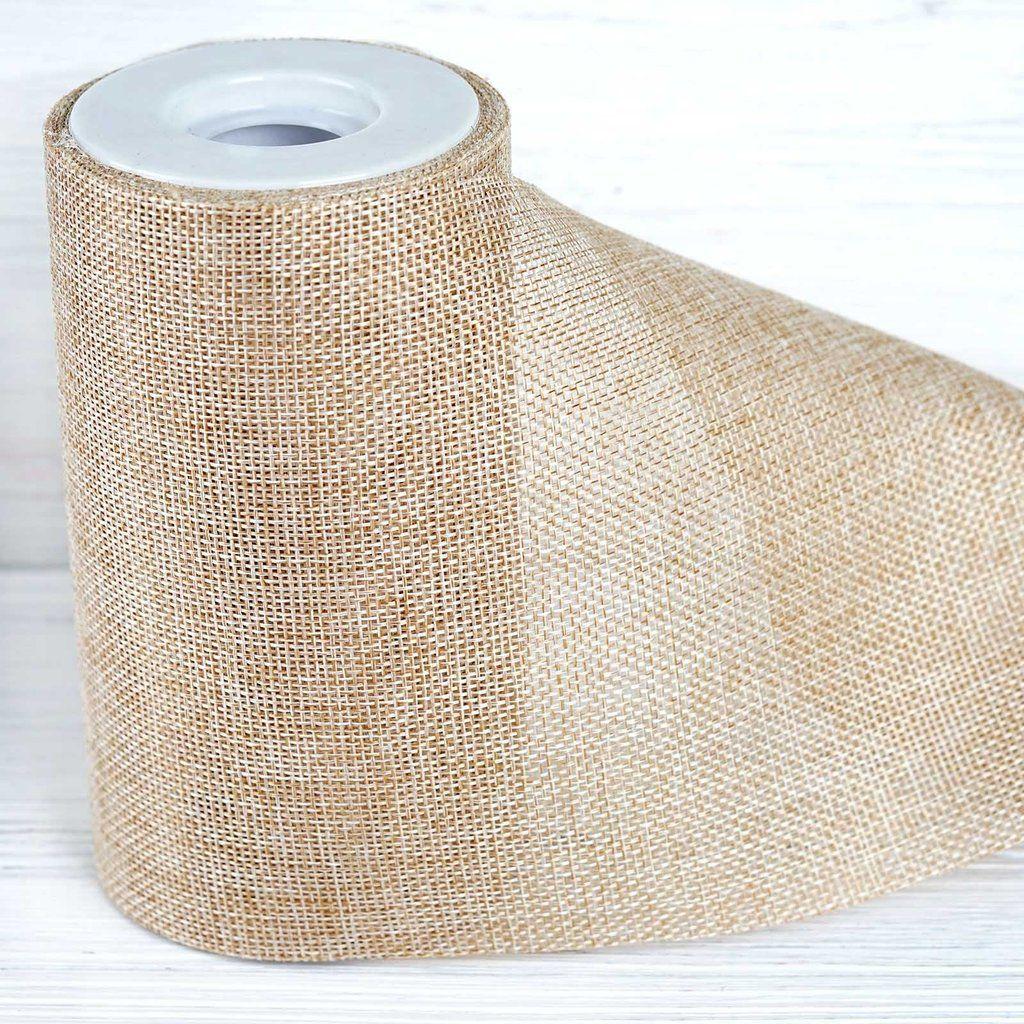 6 X 10 Yards Natural Polyester Burlap Fabric Burlap Rolls Wholesale In 2020 Burlap Fabric Burlap Rolls Fabric Bolts