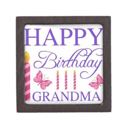 Happy Birthday Grandma Jewelry Box Happy birthday grandma