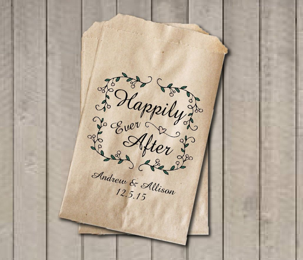 Fairytale Garden Rustic Wedding Favor Bags, Happily Ever After Favor ...