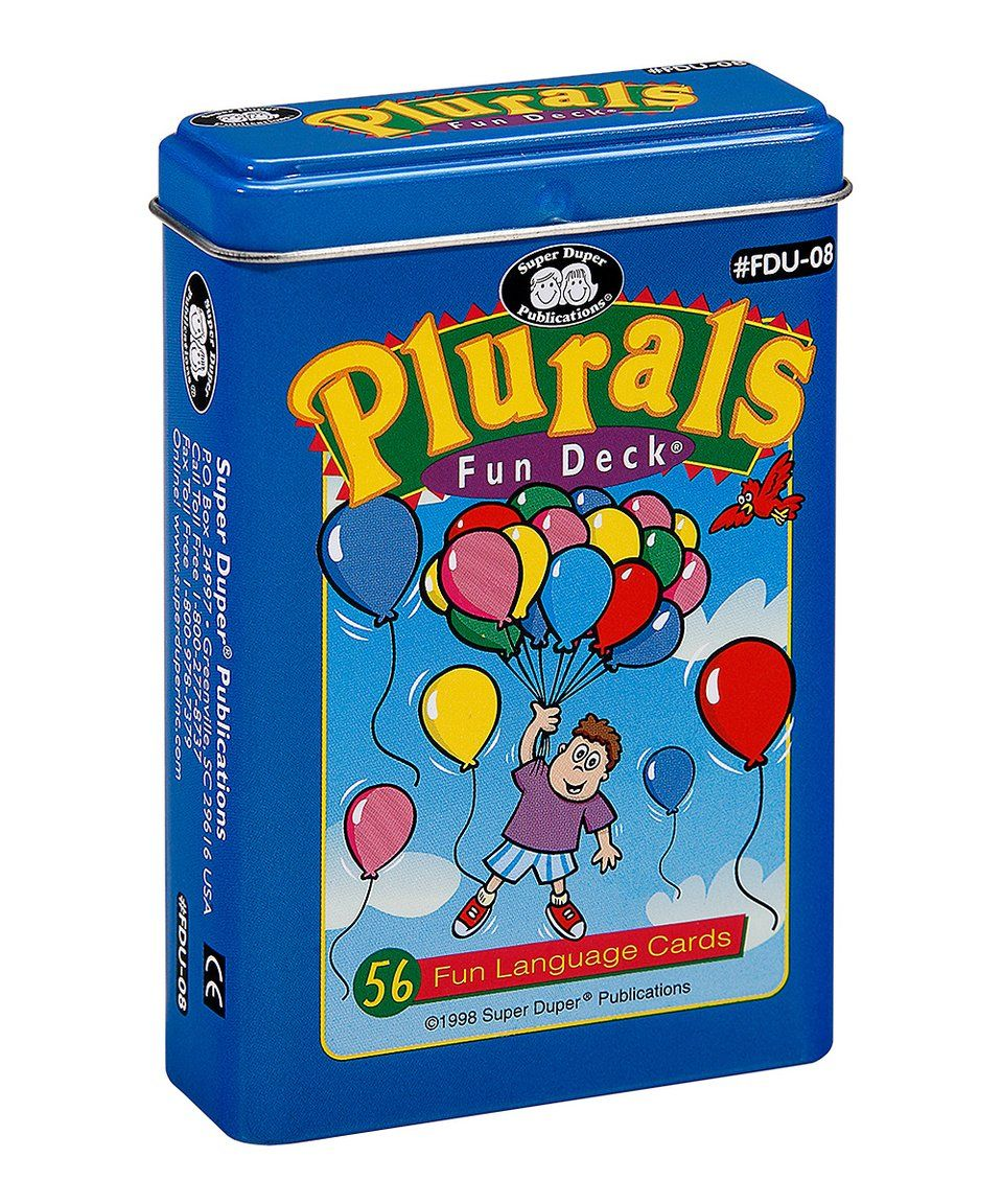 Take a look at this Plurals 56Ct. Card Fun Deck today