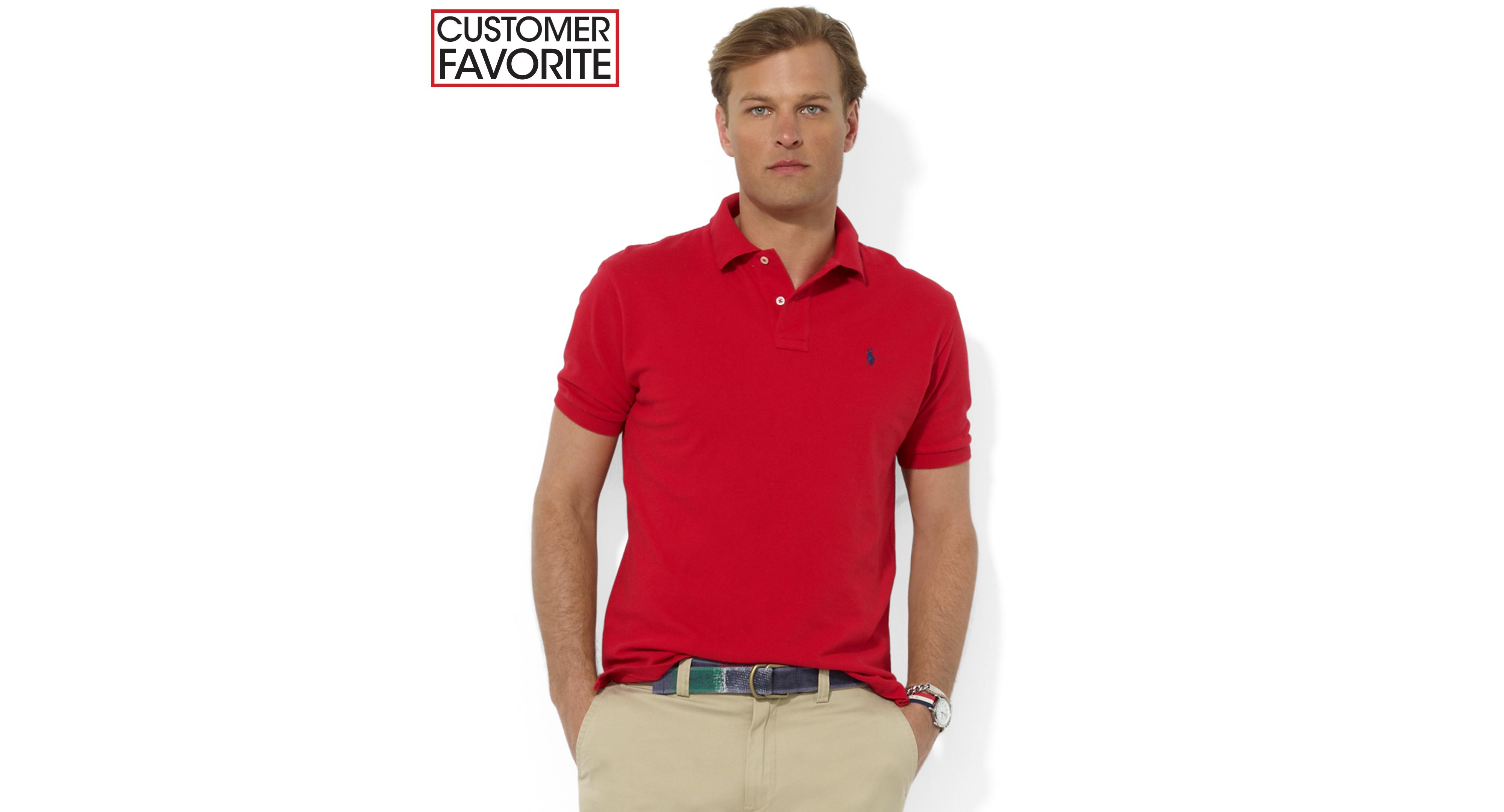 9f3d285b0bd7 Polo Ralph Lauren Classic Fit Cotton Mesh Polo Shirt