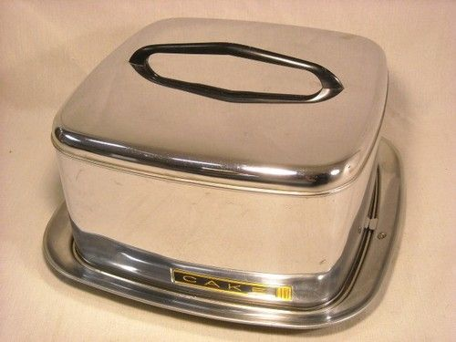 Nice Vintage Lincoln Beauty Ware Square Cake Carrier