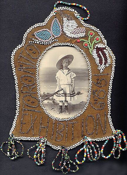 beaded Iroquois frame