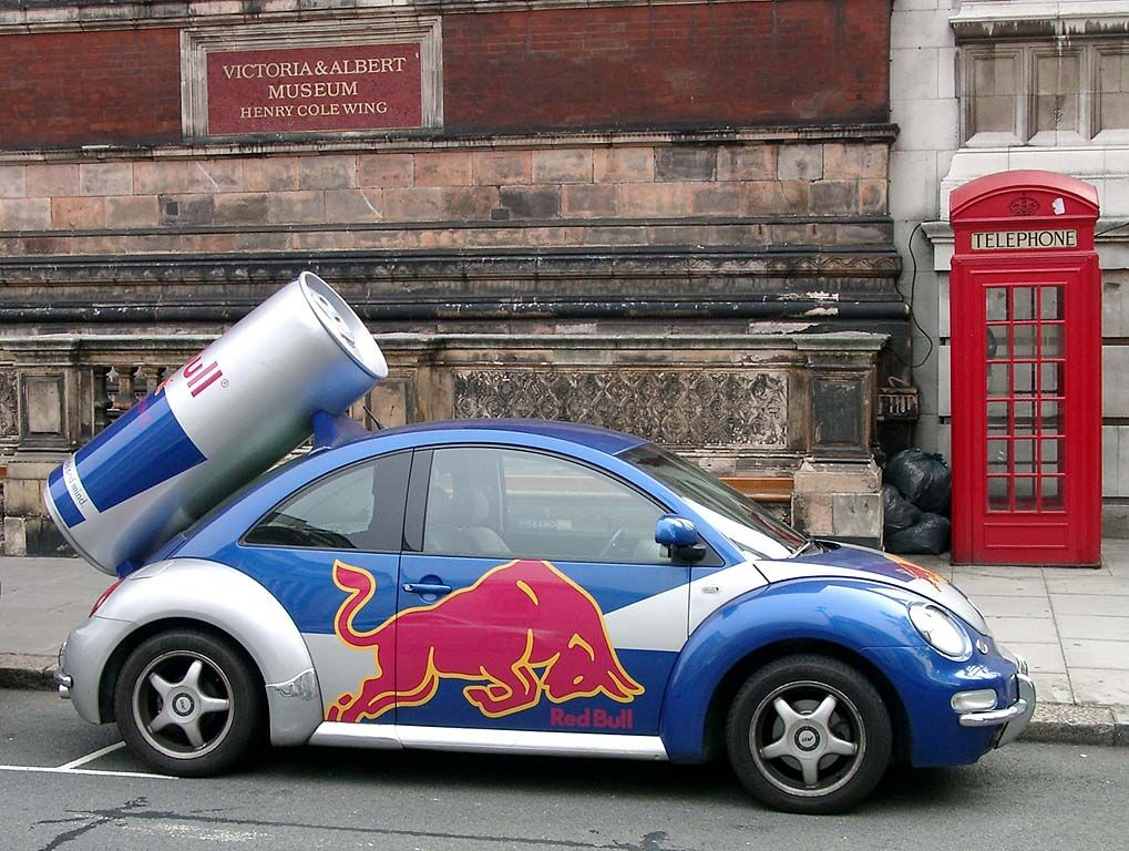 "Volkswagen New Beetle ""Red Bull"" London 