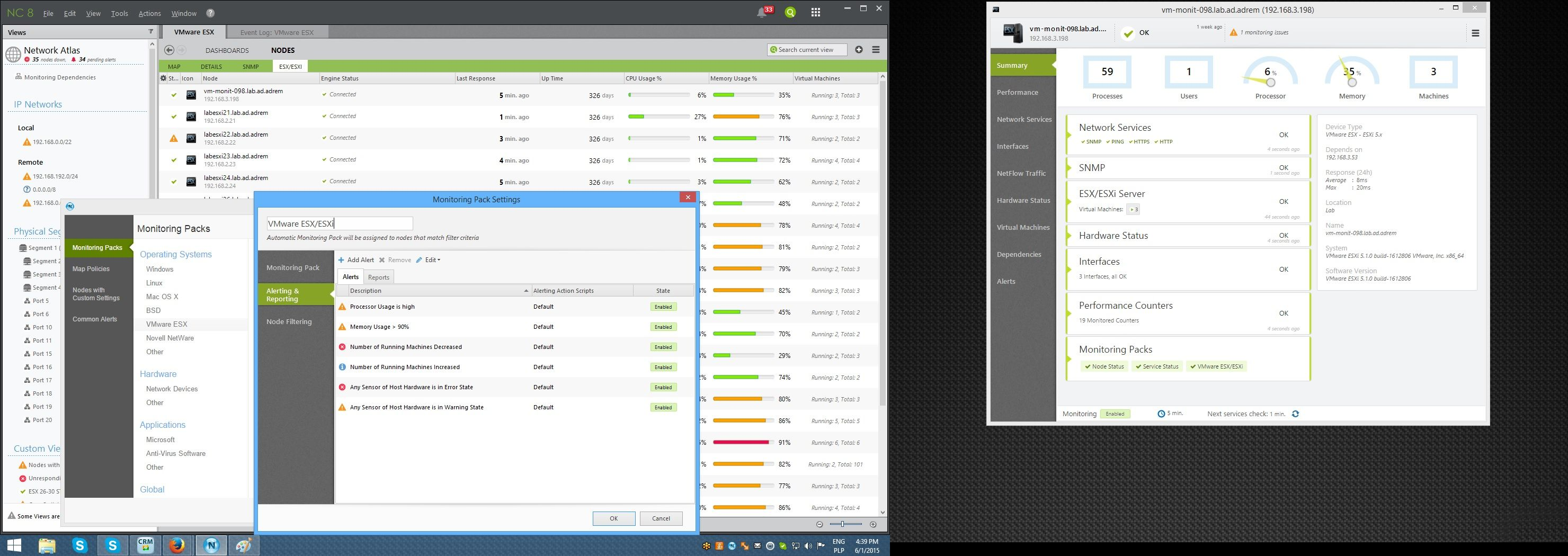 #VMWare monitoring with NetCrunch. #ESX #ESXi. All-in-one network, app and server monitoring.
