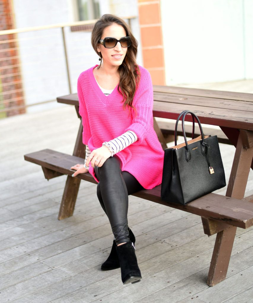 2cb7fec99c2f0 Hot pink + Black! | Sophisticated & Styled | Pinterest | Leather ...