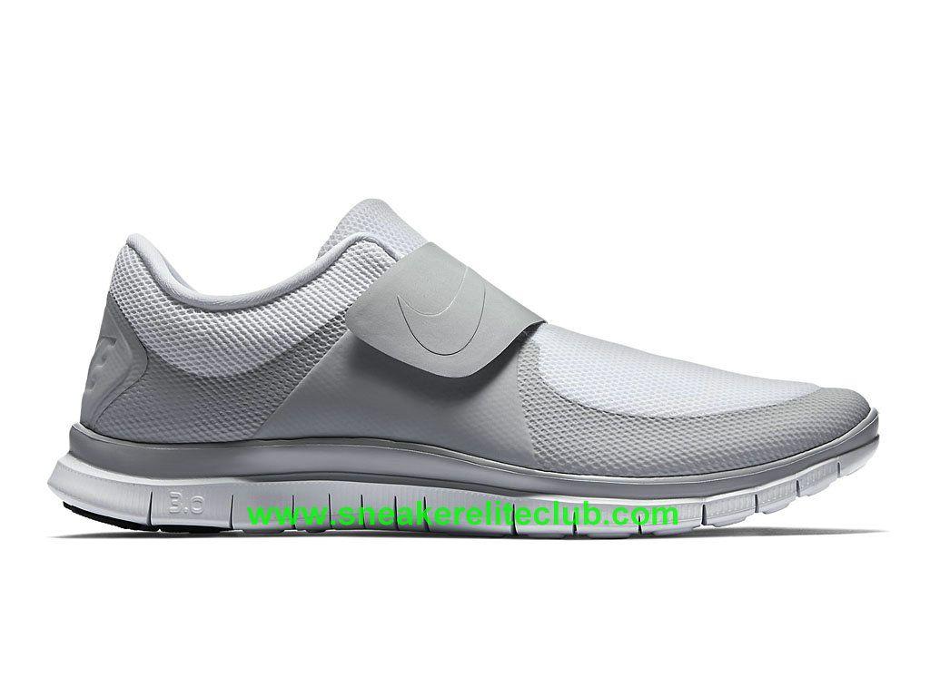 Nike Free Socfly Chaussure De Course Pas Cher Pour Homme Gris Blanc…