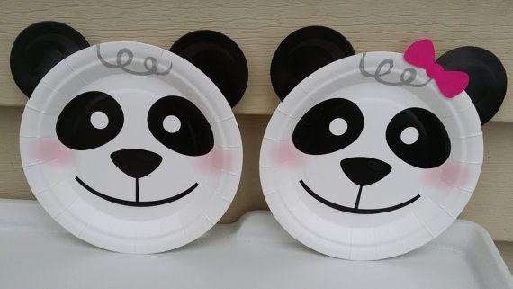 24 Panda Dessert Plates Party Decoration By