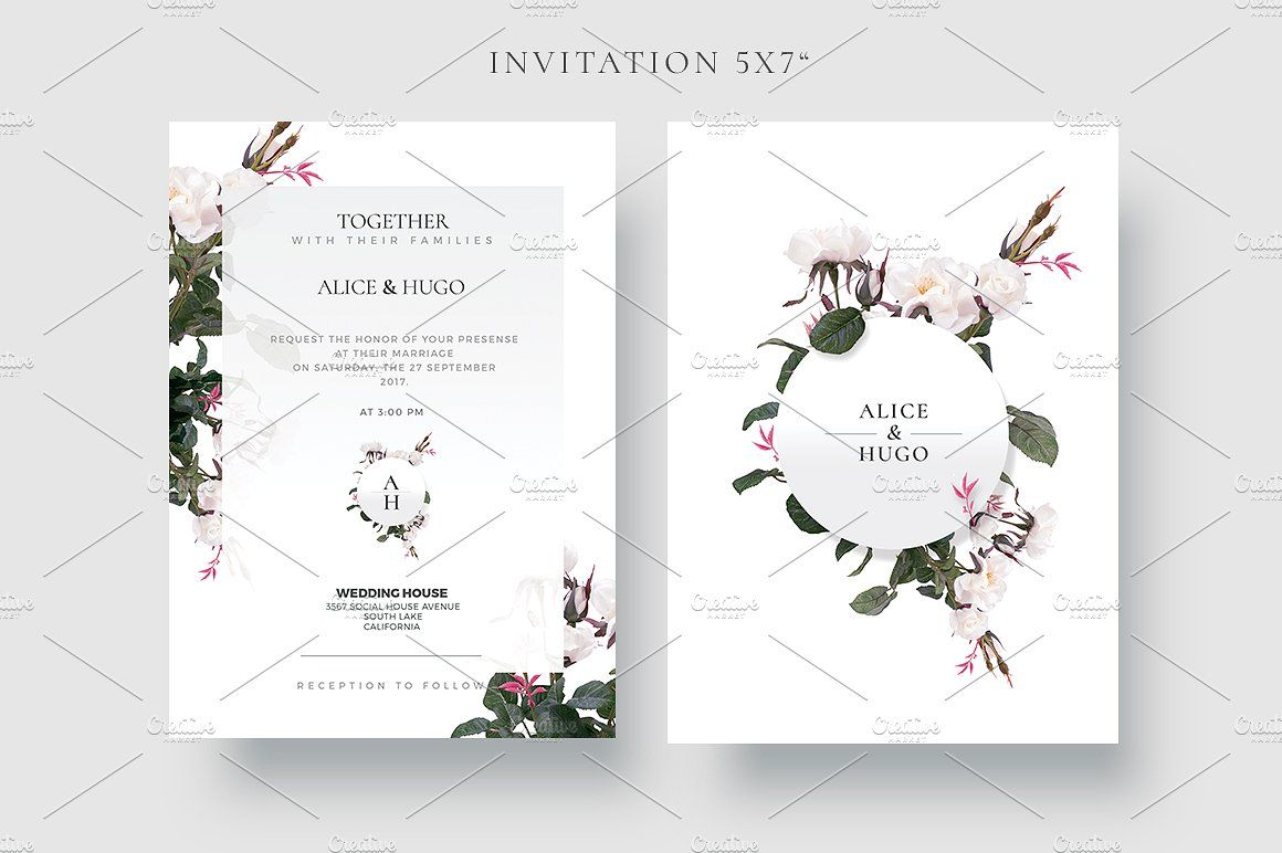 White Circle Flower White Pink Creative Wedding Collection 10