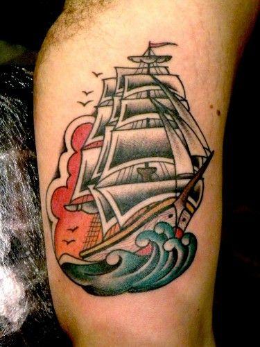 Risultati immagini per old school tattoo veliero ta t for Tattoo school edmonton