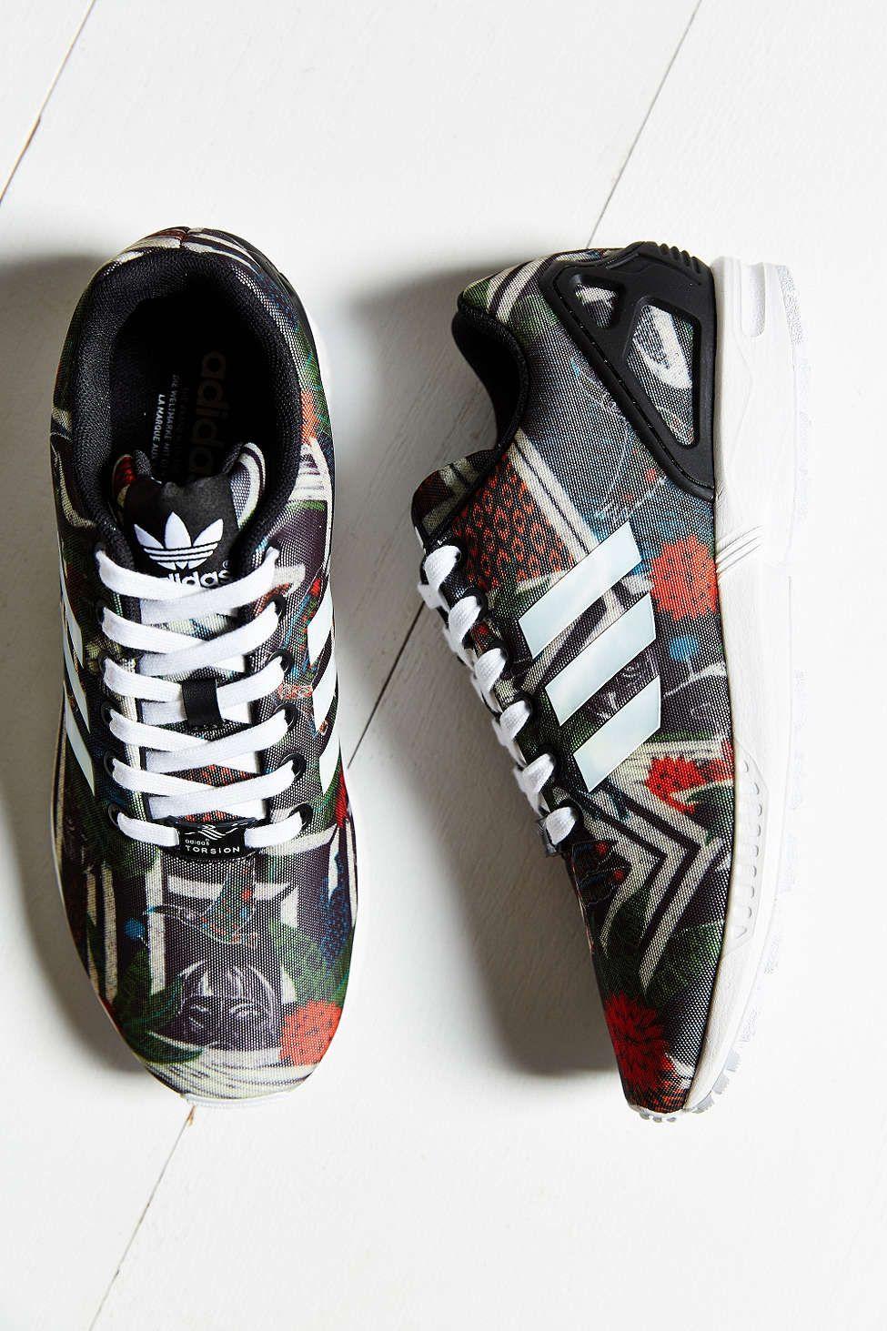 adidas Originals ZX Flux Jungle Print Running Sneaker