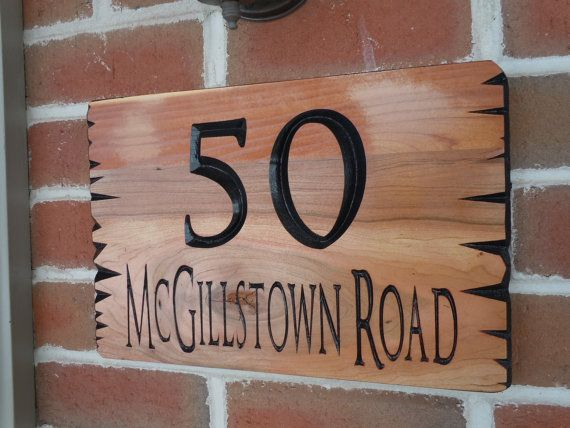 Custom Outdoor Name Sign Personalized Wooden Sign Custom Custom Wooden Signs Personalized Wooden Signs Home Wooden Signs