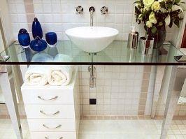Bancada De Pia Em Vidro Balcao Para Banheiro Decoracao Banheiro