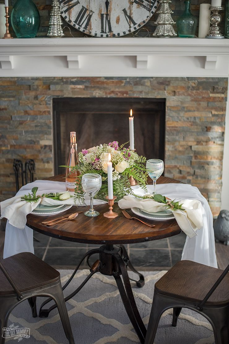 How To Create A Romantic Table For 2 On A Budget The Diy Mommy Romantic Dinner Tables Romantic Table Setting Dinner Table Setting