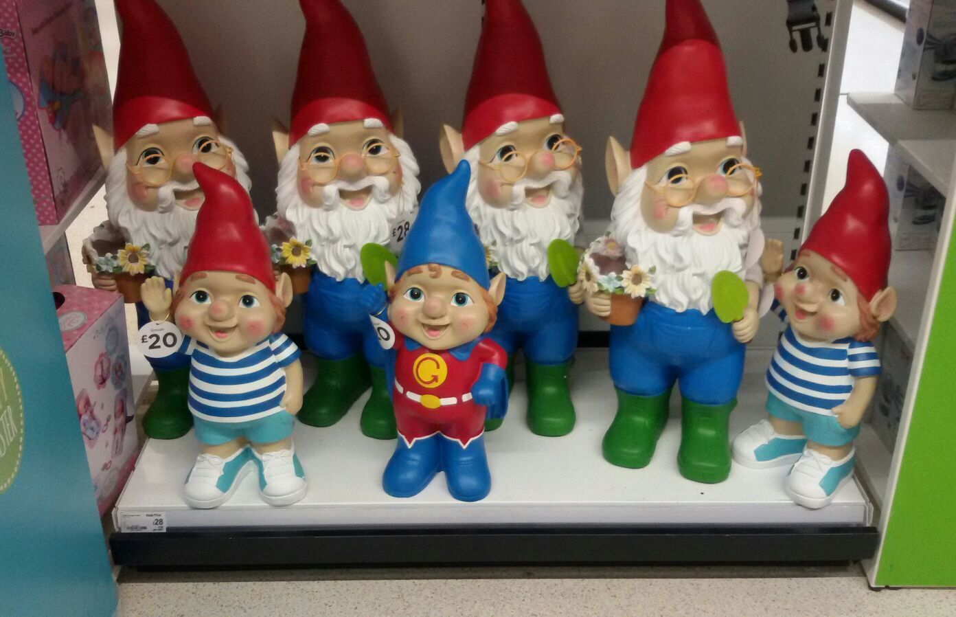Asda (walmart) Garden Gnomes Asda gnomes, Gnomes, Gnome