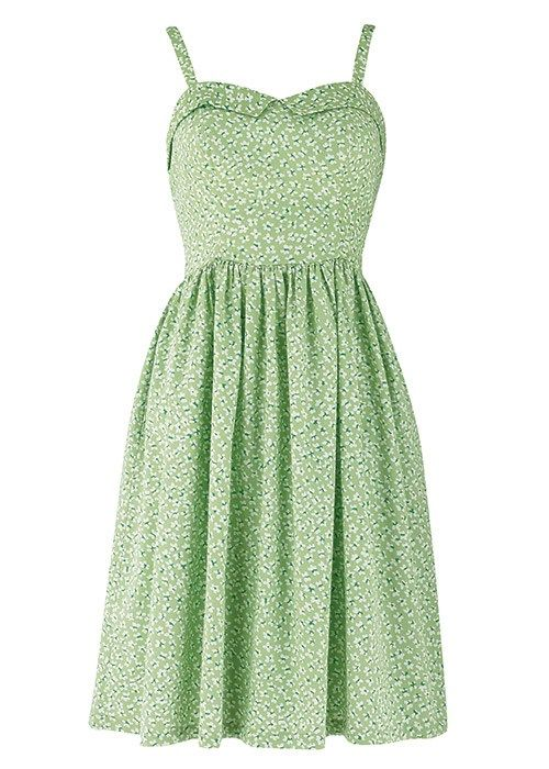 Another potential Tinkerbell dress? People Tree   Philippa Blossom Sun Dress in Green