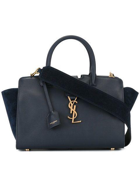 Shop Saint Laurent baby Monogram Downtown Cabas YSL bag.  b4df80b07da9a