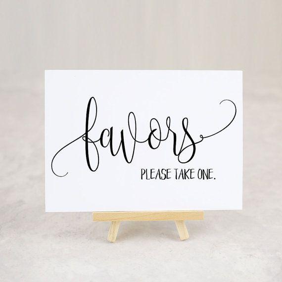 Favor Table Sign Bridal Shower Favors Wedding Favor Sign Please