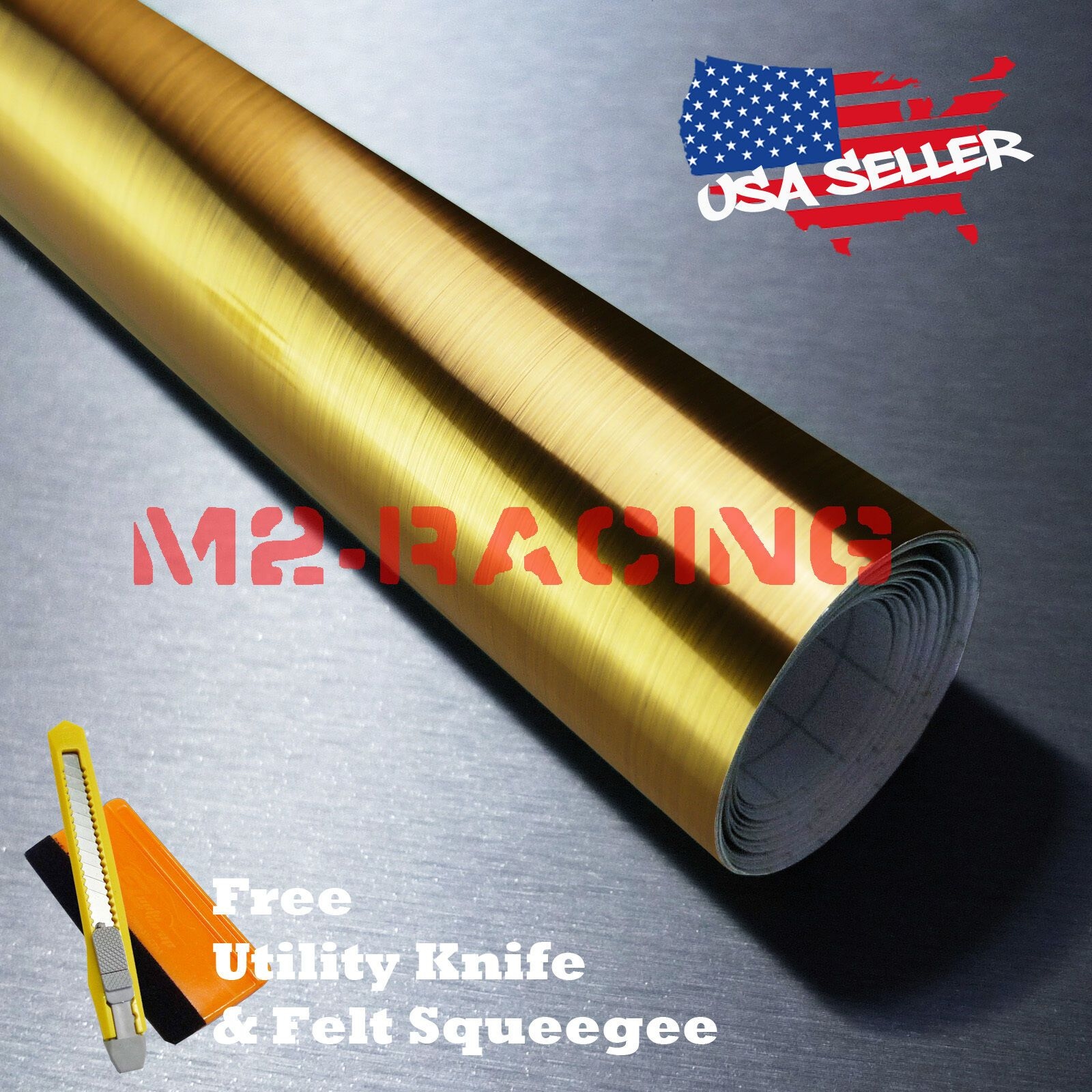 Details About 48 X108 Chrome Gold Brushed Aluminum Wrap Decal Wallpaper Sticker Film 8083h Wallpaper Stickers Brushed Aluminum Discount Wallpaper