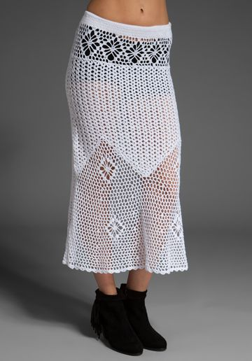 Crochet Skirt, apparently worn by Rihanna. That's no excuse...