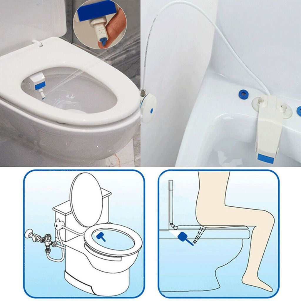 Non-Electric Smart Body Cleaner Toilet Cover Butt Flusher Bidet Self-Cleaning