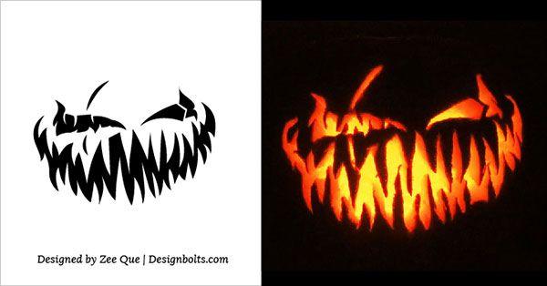 Scary Pumpkin Carving Patterns 2015 Halloween Pinterest - pumpkin carving template