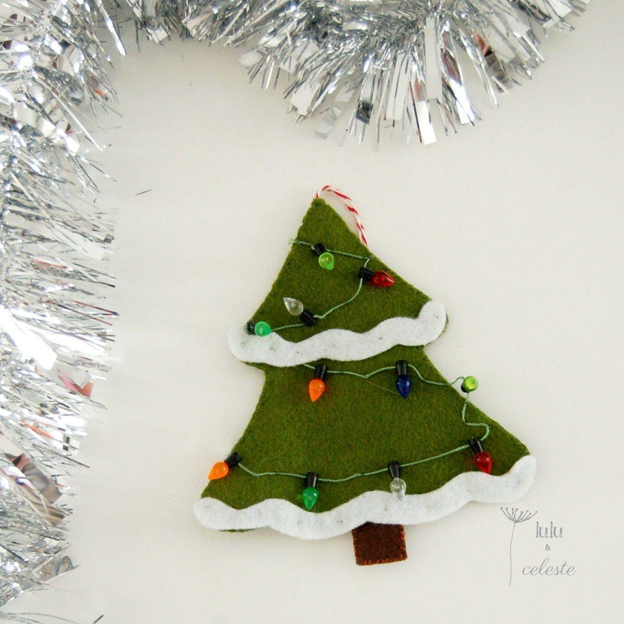 Felt Christmas Tree Ornament Lulu Celeste Felt Christmas Ornaments Christmas Ornament Pattern Felt Christmas