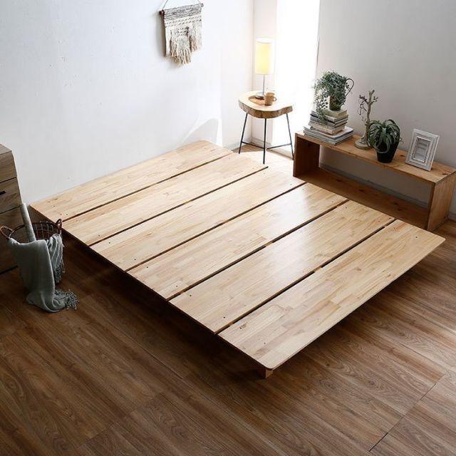 27 990 Bed Frame Solid Wood Pine Wood Minimalism Free