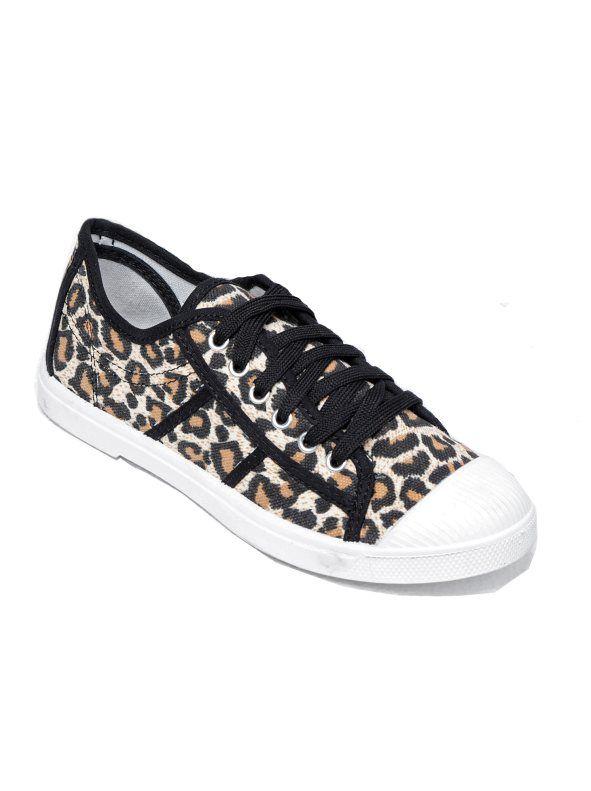 Zapatillas Mujer Cordones Deportivas LeopardoStradivarius Con Nnmwv08