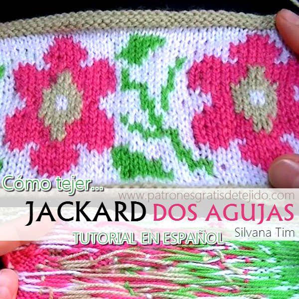 Aprende a tejer jackard con palitos o dos agujas   Ganchillo clases ...