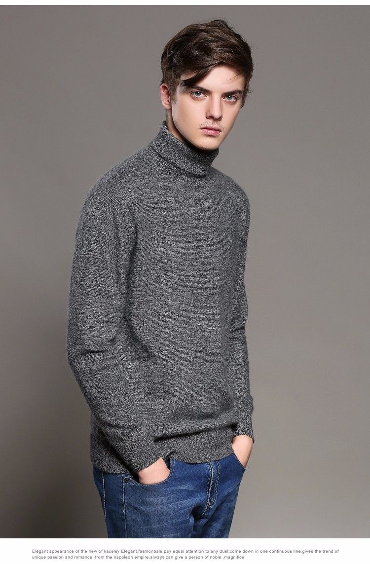 Aliexpress.com : Buy Men Sweater 100% Pure Cashmere Sweaters ...