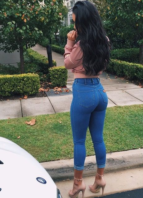 Women Skinny Solid Color Stretchy Jegging Legging Tight Pants Jeans Black