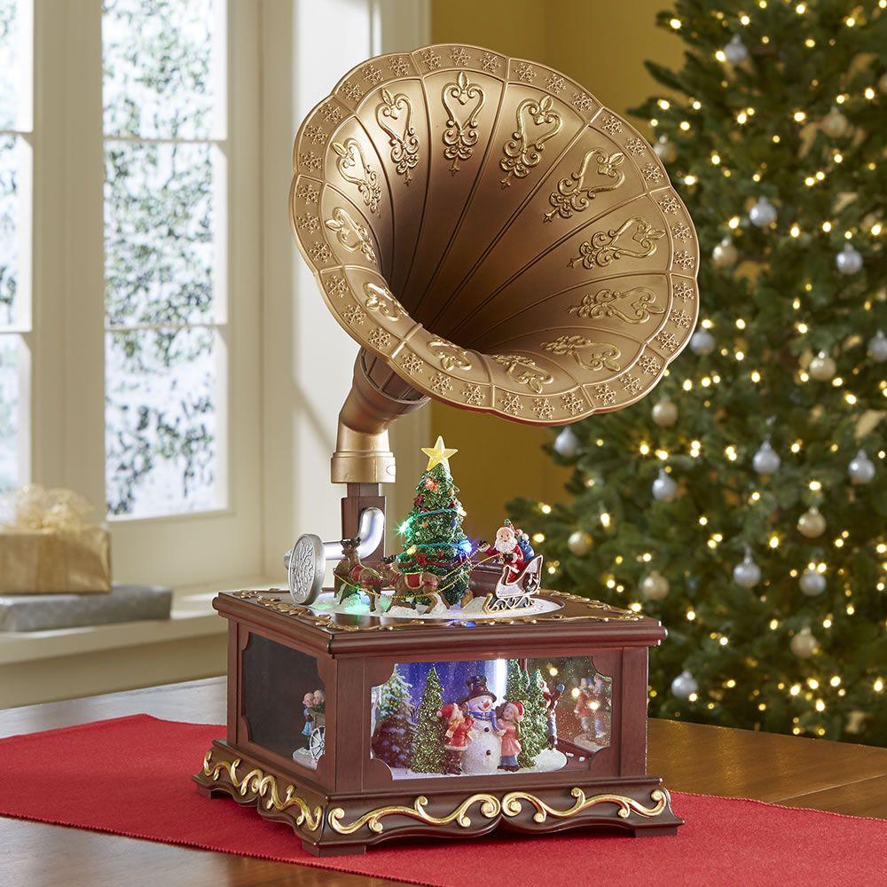 The Animated Christmas Gramophone Animated Christmas Classic Christmas Carols Crystal Christmas Tree