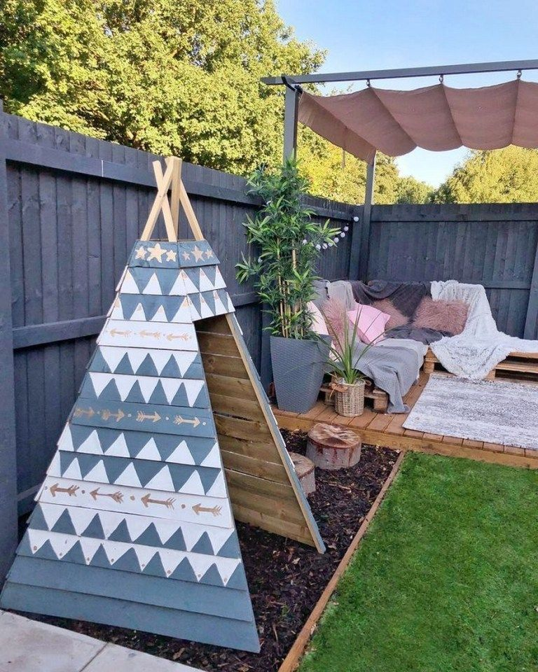 59 Amazing Small Patio Ideas On A Budget 33 Gardening For Kids Wooden Teepee Small Cottage Garden Ideas