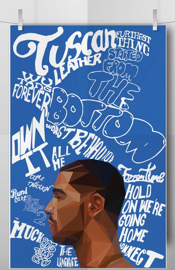 Drake Nothing Was The Same Poster by HundredWattShop on Etsy