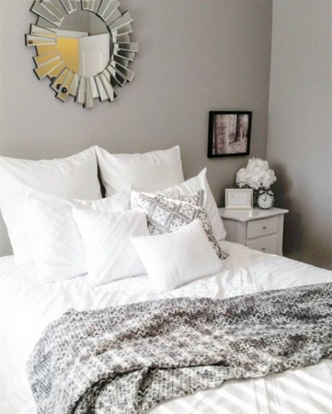 we like the pairing of walls in baltic gray 1467 with the gray décor