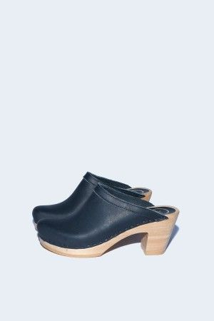 Old School Clog On High Heel In Black Shoes Clogs Heels Shoes