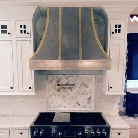 Zinc Range Hoods Zinc Range Hood Updating House Kitchen Range Hood