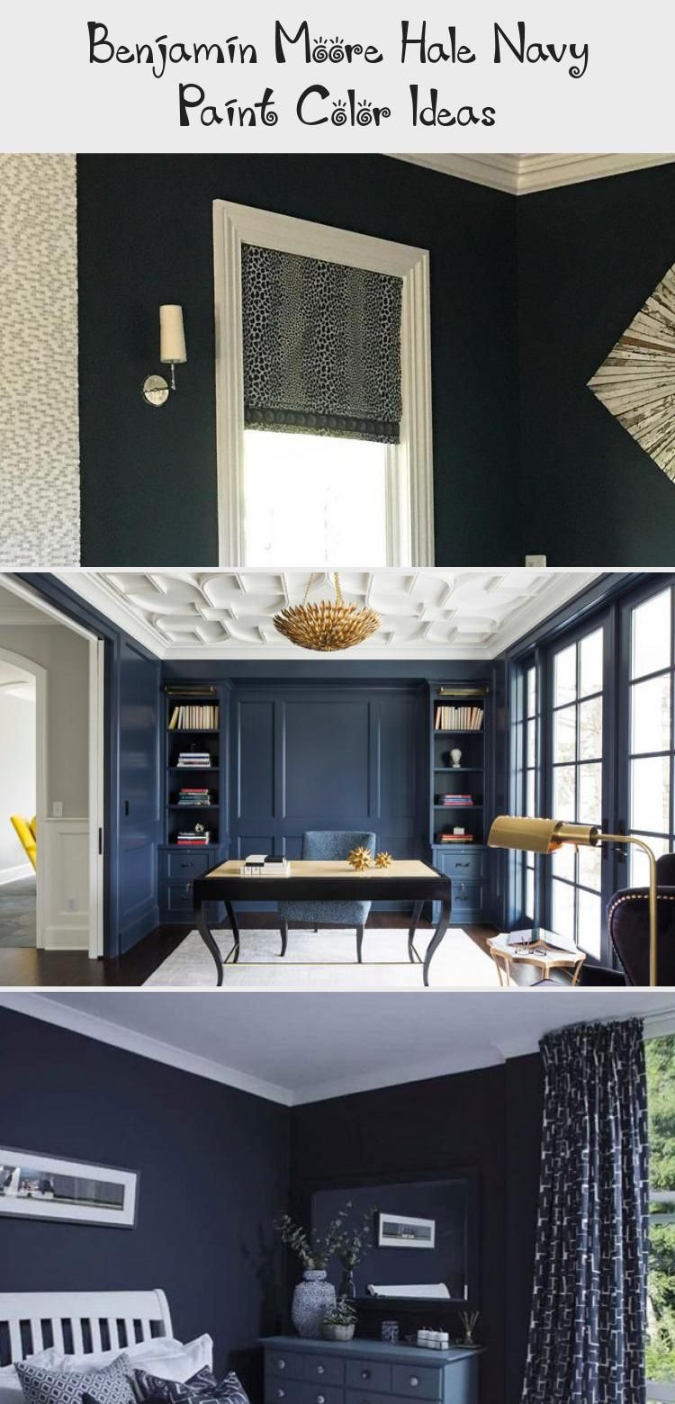 Benjamin Moore Hale Navy Paint Color Ideas #halenavybenjaminmoore