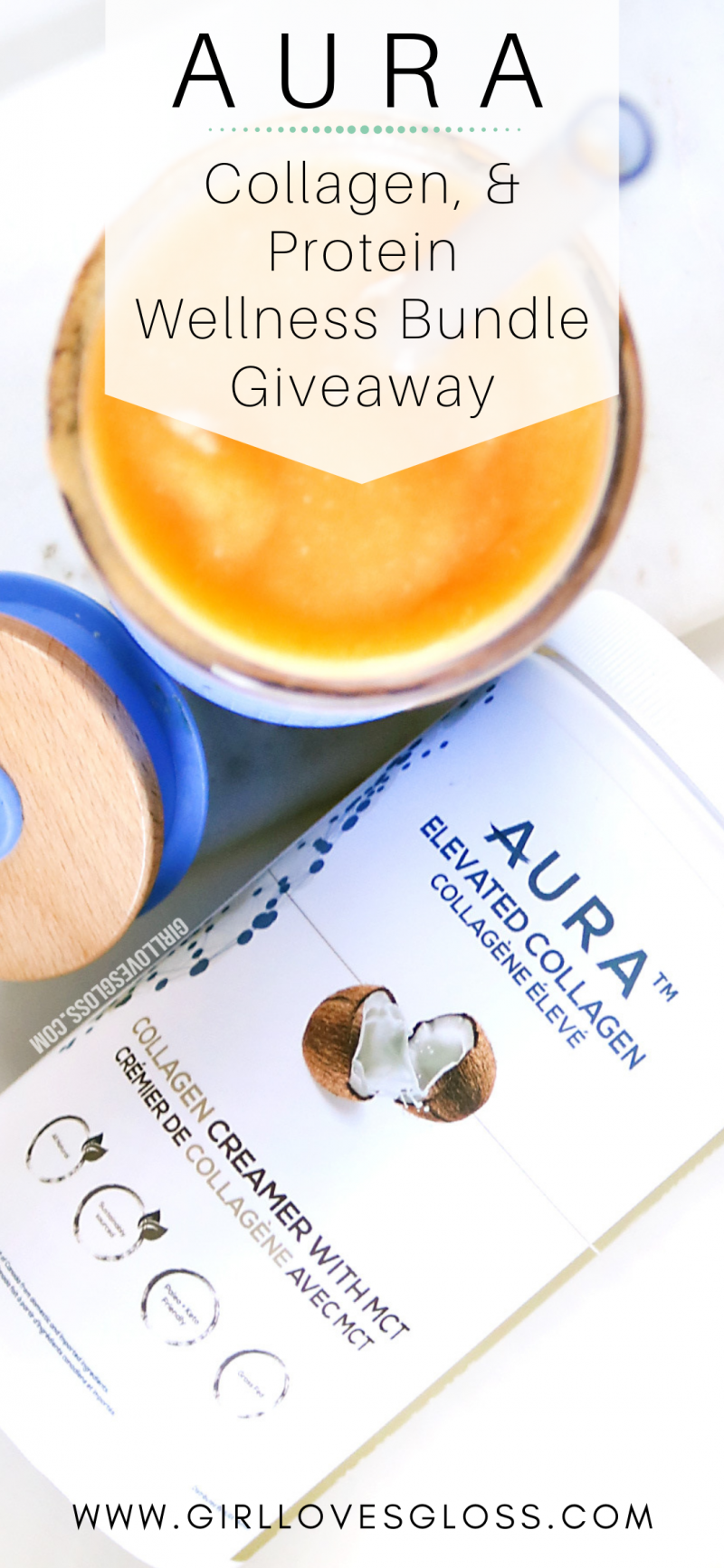 AURA Collagen MCT and Protein Powder Giveaway #wheyproteinrecipes